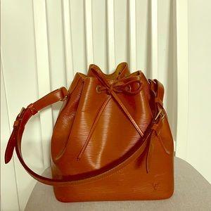 Light Brown Louis Vuitton Leather Shoulder Bag